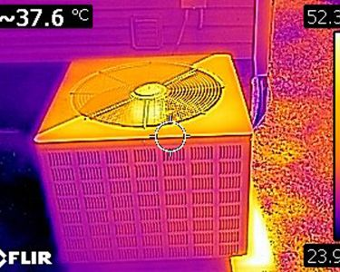 An example photo from a thermal imaging (infrared) home inspection.